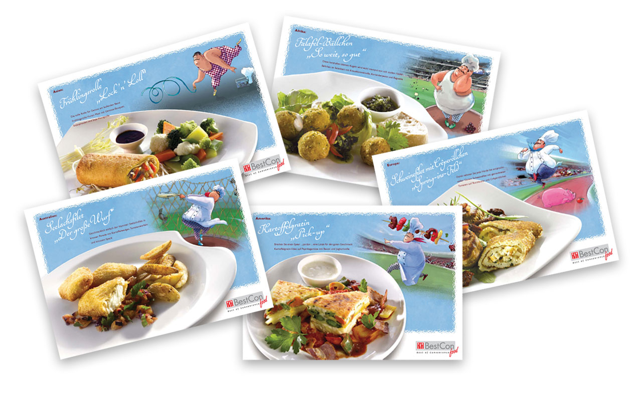 BestCon Food Promotion-Rezeptkarten